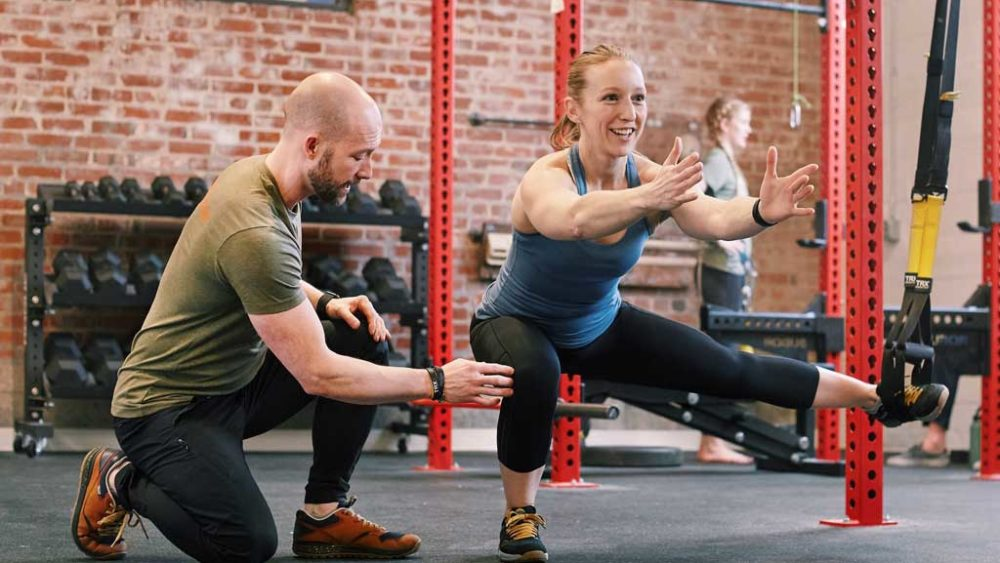 TRX Abducted Lunge Suspension training for rock climbers